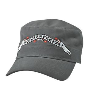 MILITARY CAP, HIGHWAY HONEY®, BANNER, GREY