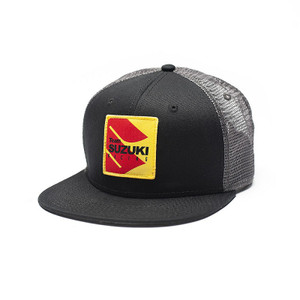 FACTORY EFFEX SUZUKI RACING SNAPBACK HAT / BLACK-GREY MESH OS