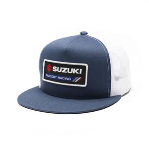 FACTORY EFFEX SUZUKI FACTORY SNAPBACK HAT / NAVY-WHITE MESH OS
