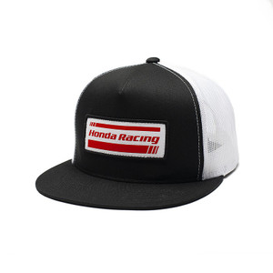 FACTORY EFFEX HONDA RACING SNAPBACK HAT / BLACK-WHITE MESH OS