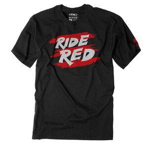 FACTORY EFFEX HONDA RIDE RED STRIPES YOUTH T-SHIRT / BLACK