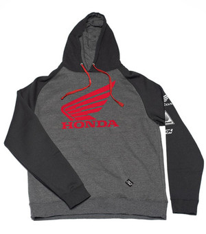 FACTORY EFFEX HONDA WING PULLOVER/CHARCOAL-BLACK