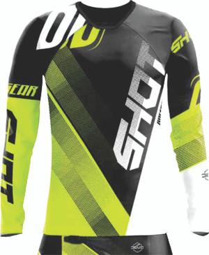 Shot Devo Ultimate Motocross Jersey Black/Neon Yellow