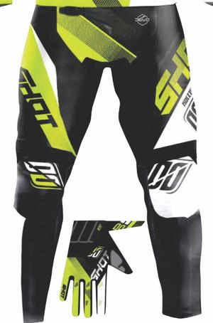 Devo Ultimate Motocross Pants Black/Neon Yellow