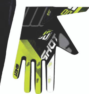 Devo Ultimate Motocross Gloves Black/Neon Yellow