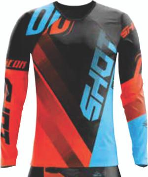 Shot Devo Ultimate Motocross Jersey Black/ Neon Orange
