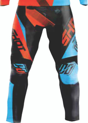 Devo Ultimate Motocross Pants Black/Neon Orange