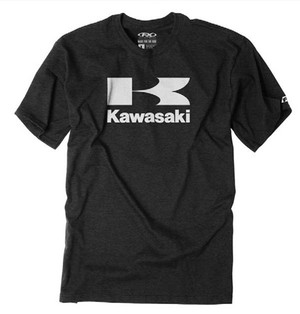 FACTORY EFFEX KAWASAKI FLYING K T- SHIRT / HTHR CHARCOAL