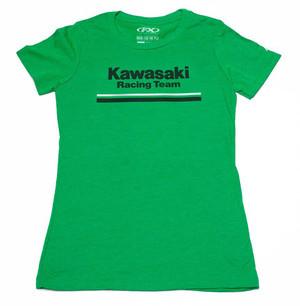 FACTORY EFFEX KAWASAKI STRIPES WOMENS T- SHIRT / MINT GREEN