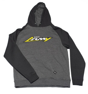 FACTORY EFFEX SUZUKI ARMY YOUTH PULLOVER / CHARCOAL-BLACK
