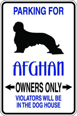 Afghan Owners Only Sublimated Aluminum Magnet