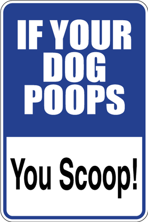 You Scoop Dog Sign Decal