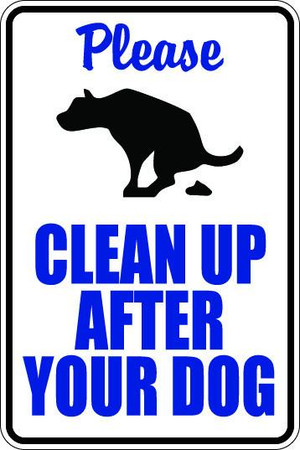 Clean Up After Your Dog Sublimated Aluminum Magnet 1