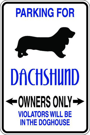 Dachshund Owners Only Sublimated Aluminum Magnet