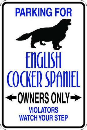 English Cocker Spaniel Owners Only Sublimated Aluminum Magnet