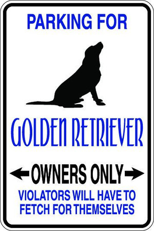 Golden Retriever Owners Only Sublimated Aluminum Magnet 1