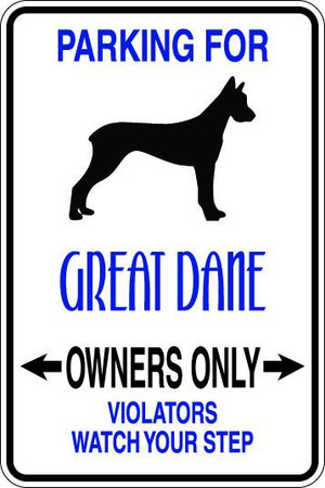Great Dane Owners Only Sublimated Aluminum Magnet