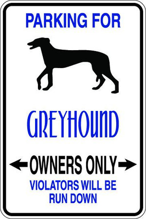 Greyhound Owners Only Sublimated Aluminum Magnet