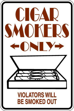 Cigar Smokers Only Sublimated Aluminum Magnet