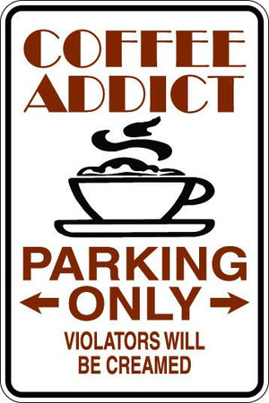 Coffee Addict Sublimated Aluminum Magnet