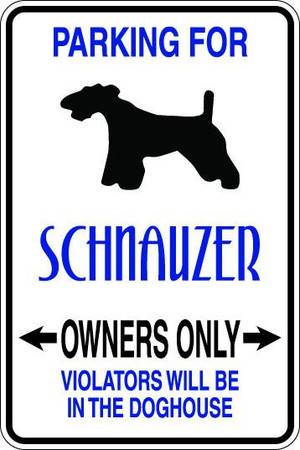 Schnauzer Owners Only Sublimated Aluminum Magnet