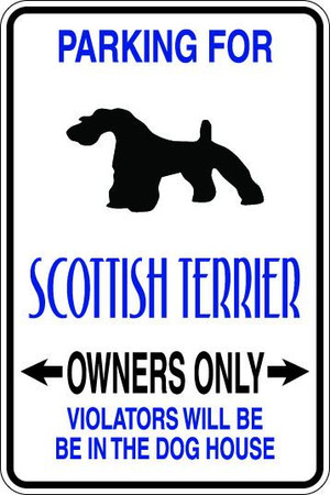 Scottish Terrier Owners Only Sublimated Aluminum Magnet