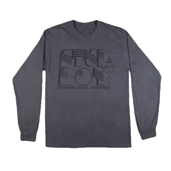 STUD BOY GREY LONG SLEEVED T-SHIRT