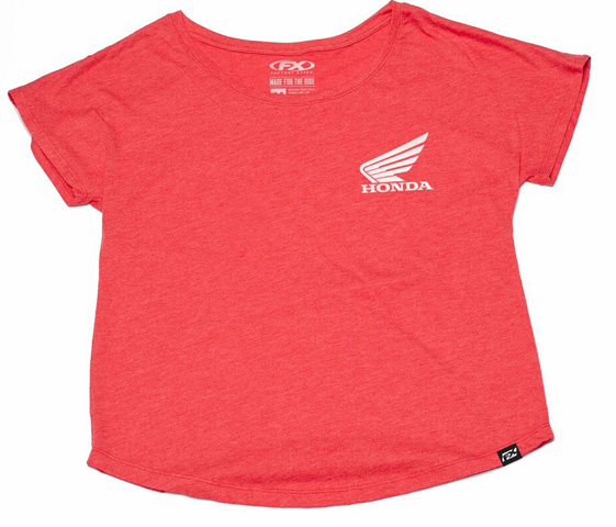 Factory Effex for Kawasaki Stripes Dolman Womens T-Shirt Black, Large