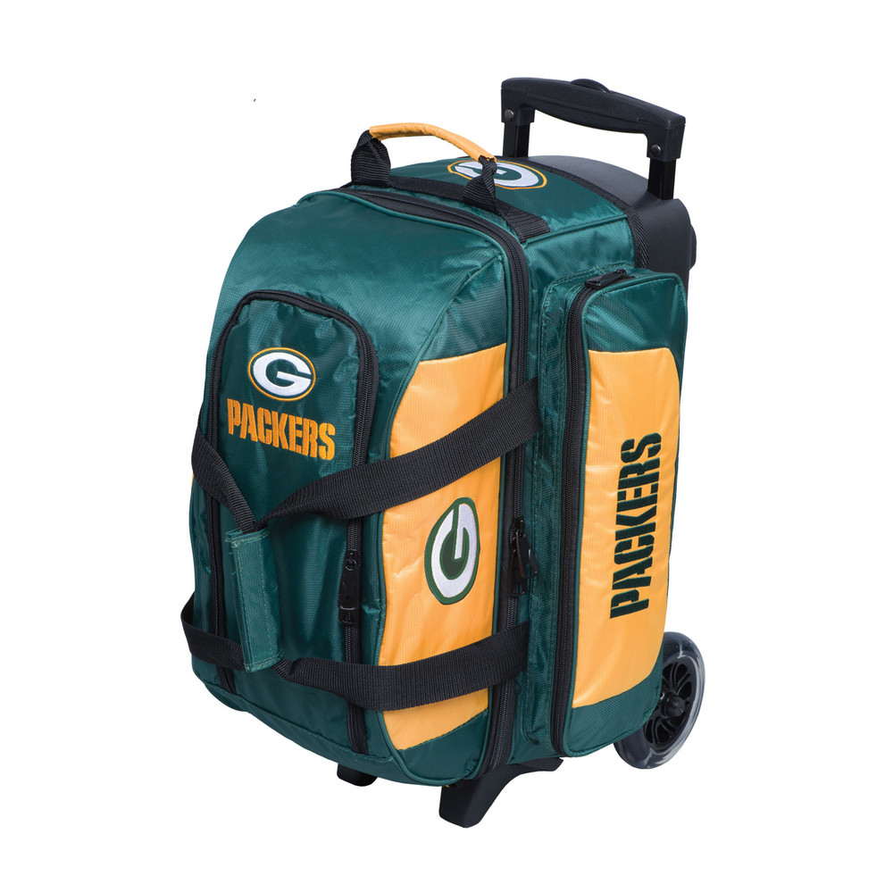KR NFL 2 Ball Double Rolling Bowling Bag Green Bay Packers