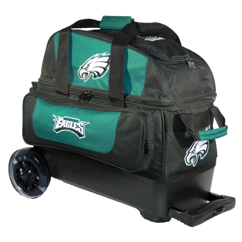 KR NFL 2 Ball Double Rolling Bowling Bag Philadelphia Eagles