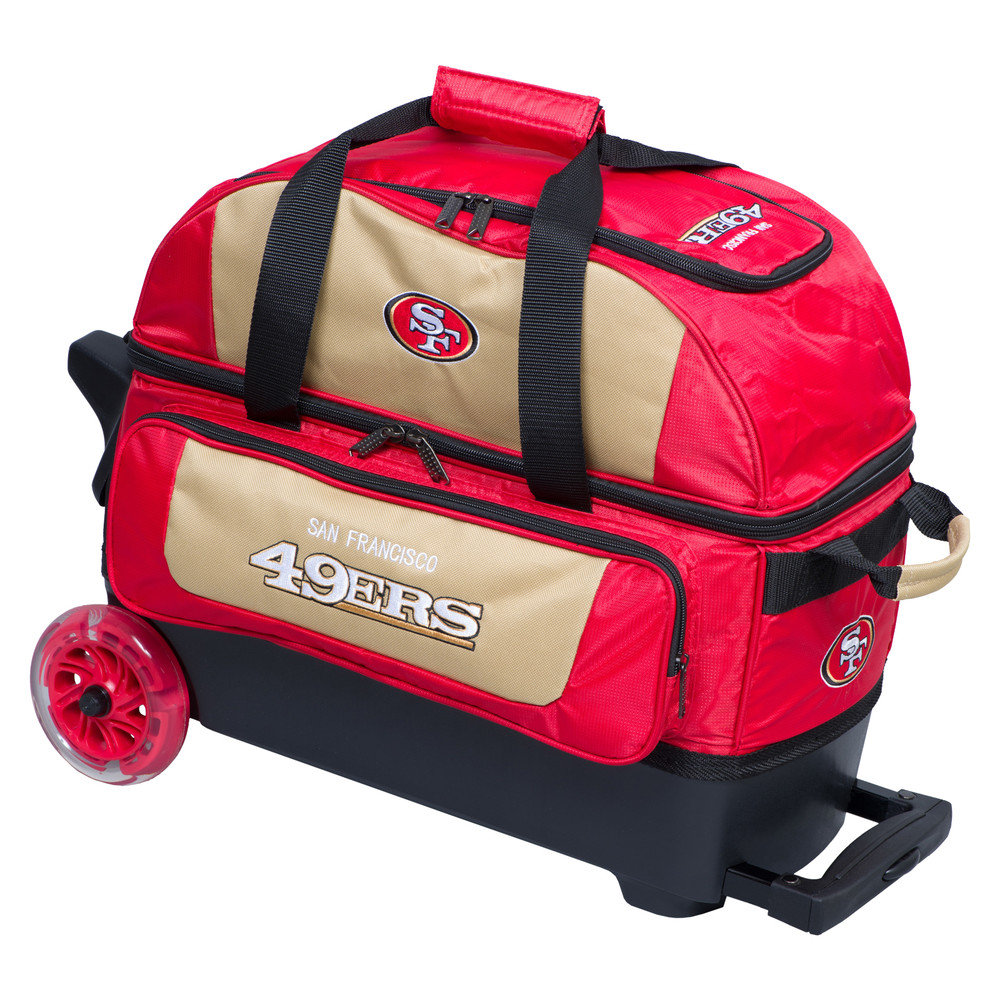 KR NFL 2 Ball Double Rolling Bowling Bag San Francisco 49ers