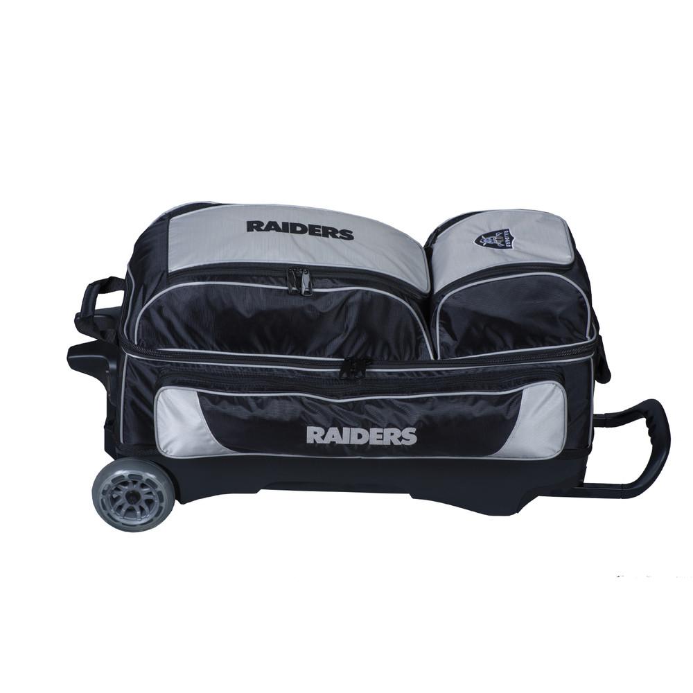 KR NFL 3 Ball Triple Roller Bowling Bag Oakland Raiders
