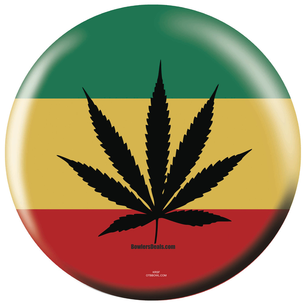 rasta weed bowling ball exclusive by otb free shipping no hidden charges