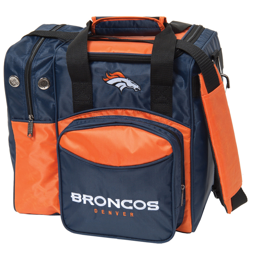 NFL 1 Ball Single Tote Bowling Bag Denver Broncos