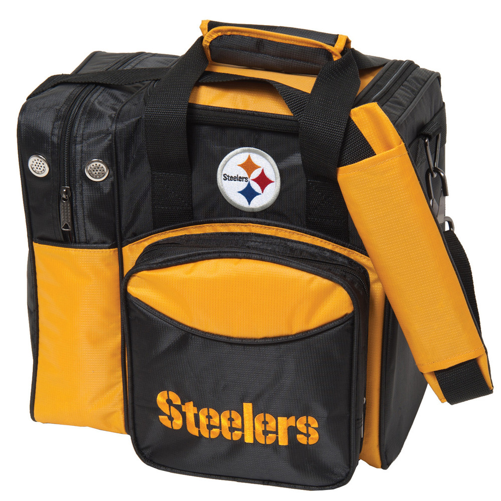 NFL 1 Ball Single Tote Bowling Bag Pittsburgh Steelers