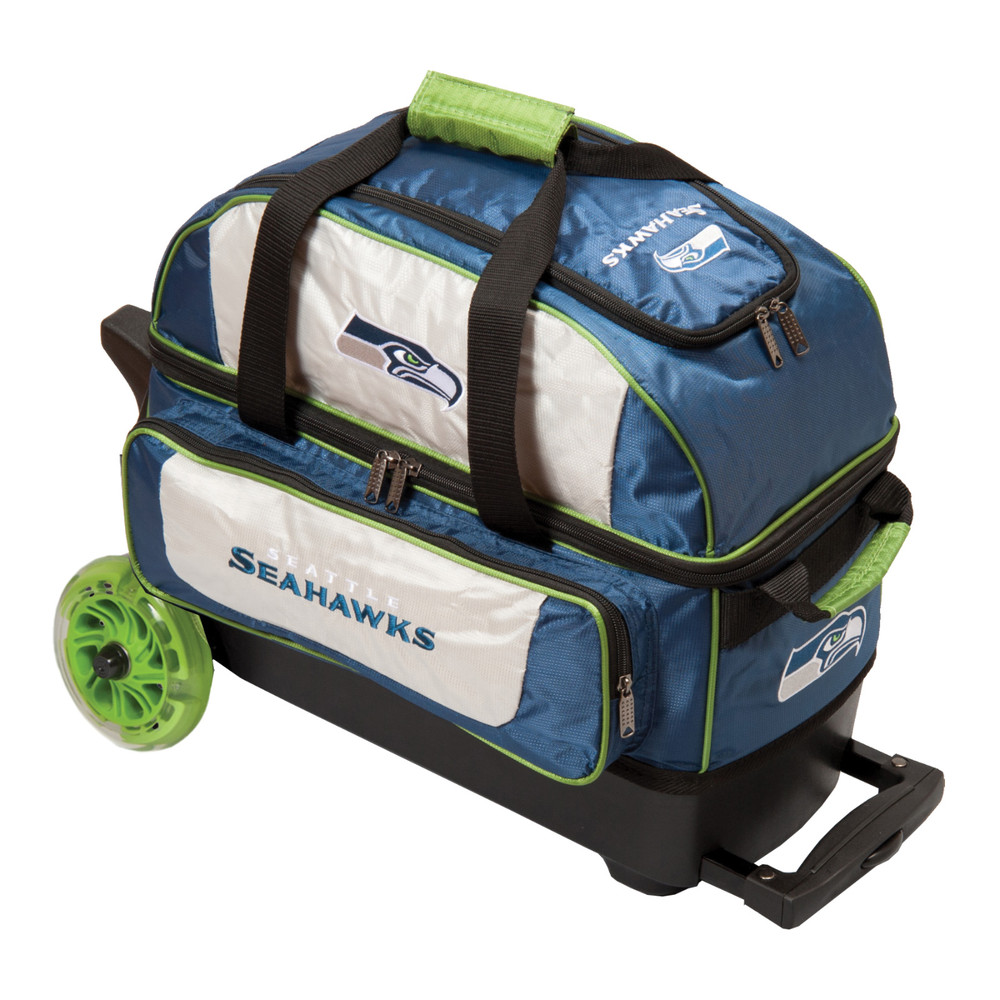 KR NFL 2 Ball Double Rolling Bowling Bag Seattle Seahawks