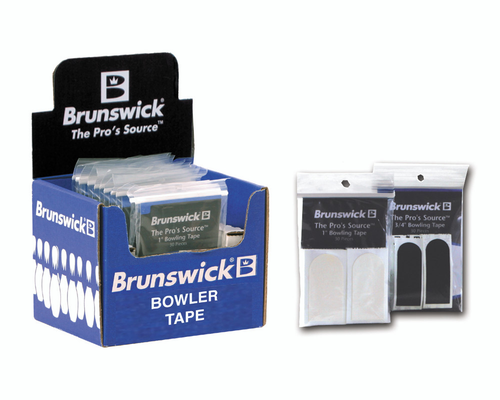 "Brunswick Bowling 30 Piece Black 3//4/"" Bowlers Tape Pack 2 PACKS"