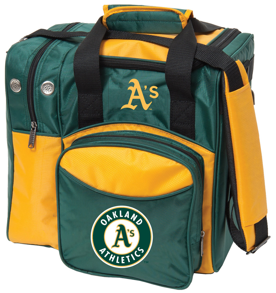 MLB 1 Ball Single Tote Bowling Bag Oakland A's