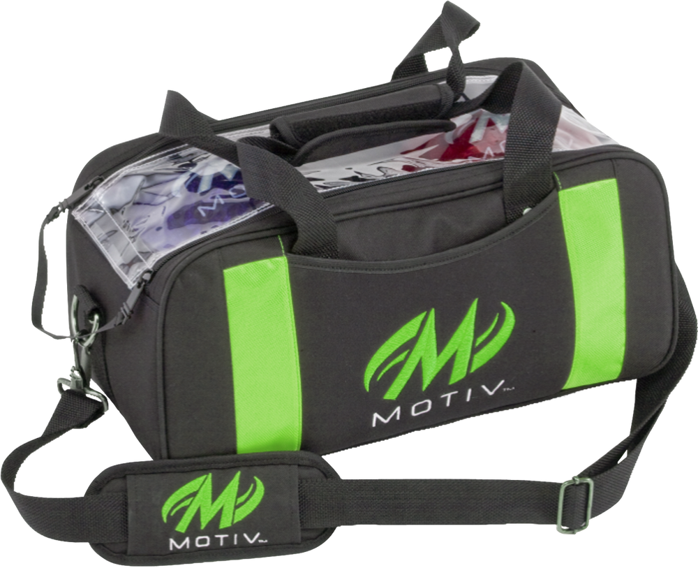 Motiv Clear View 2 Ball Double Tote Bowling Bag Green