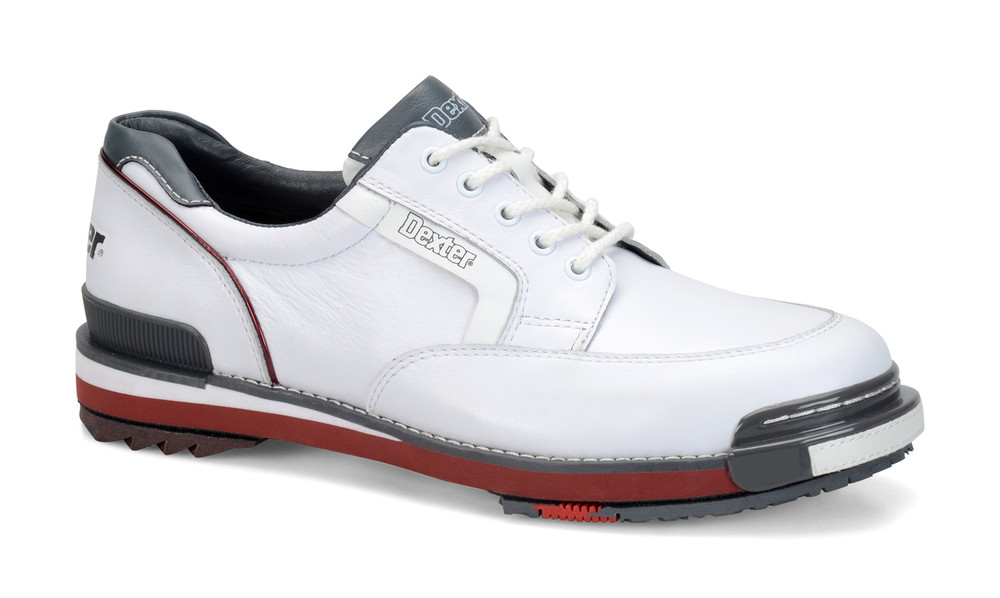 50690fef2d7c Dexter SST Retro Mens Bowling Shoes White Grey Red side view ...