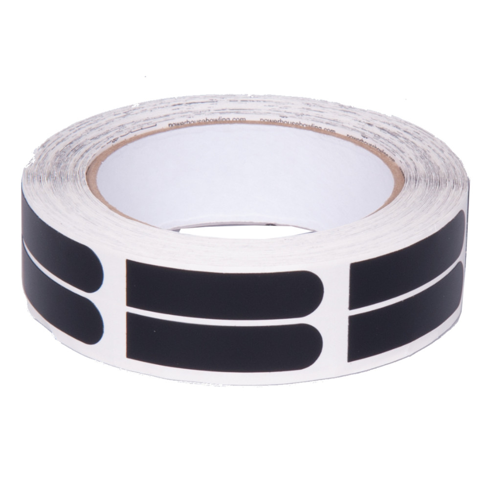 "Powerhouse 1/2"" Black Bowler's Tape 100 Roll"