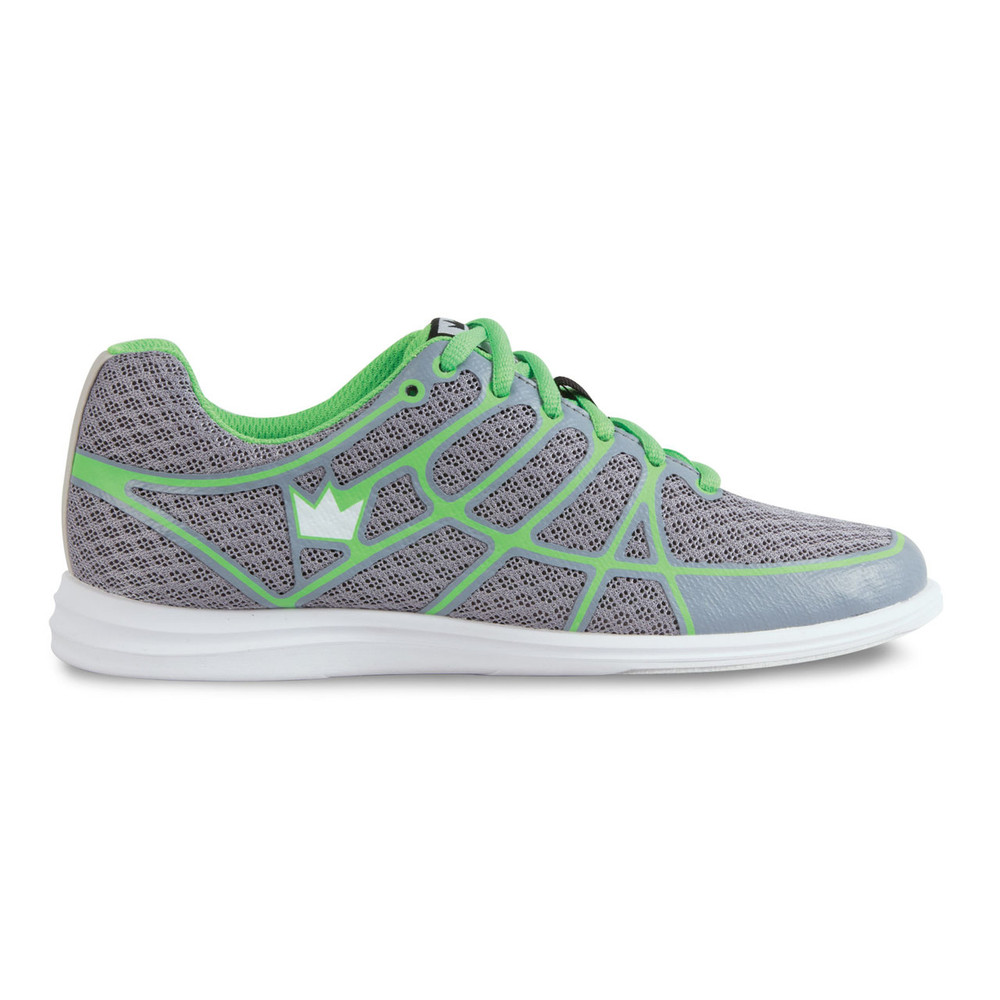 Brunswick Aura Women's Bowling Shoes Grey Green side view