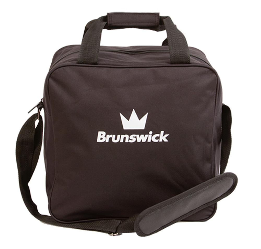 Brunswick TZone 1 Ball Single Tote Bowling Bag Black