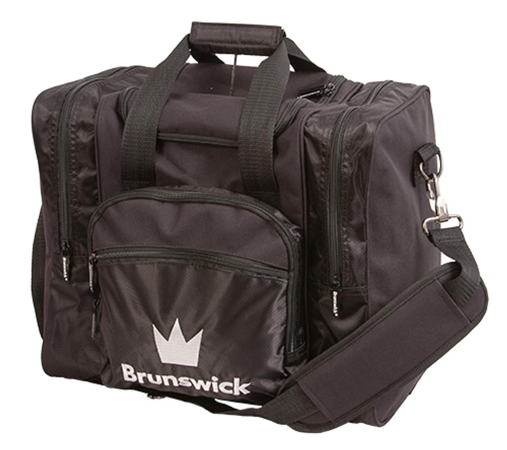 Brunswick Edge 1 Ball Single Tote Bowling Bag Black