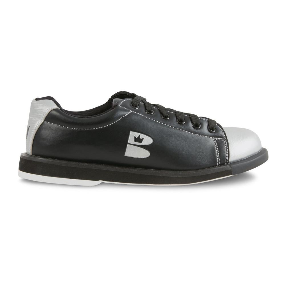 Brunswick TZone Bowling Shoes Black Silver side view