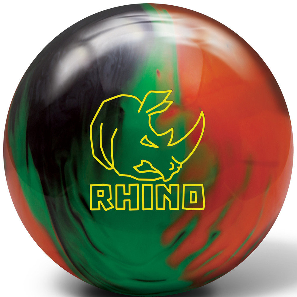 Brunswick Rhino Black Green Orange Bowling Ball