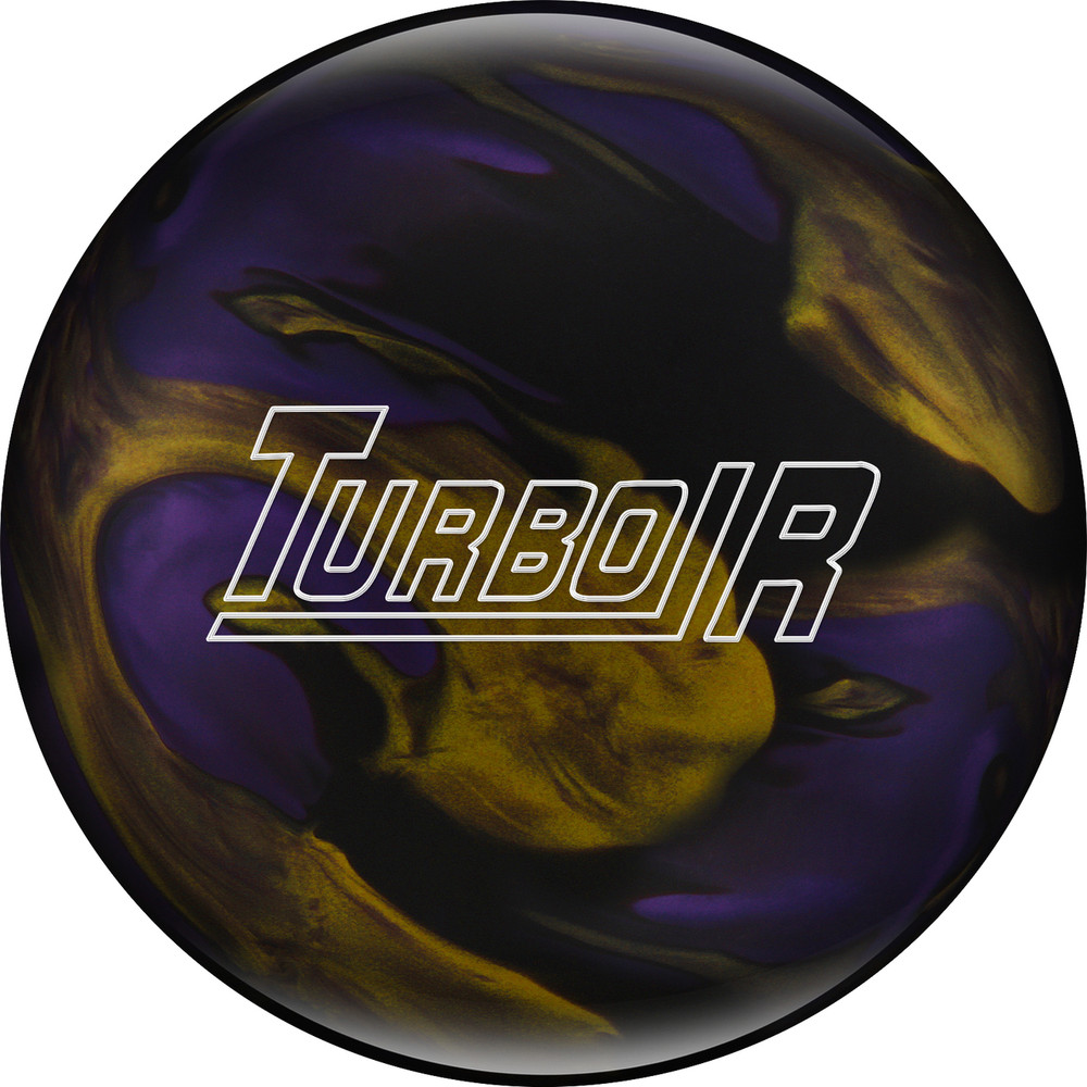 Ebonite Turbo/R Bowling Ball Black Purple Gold