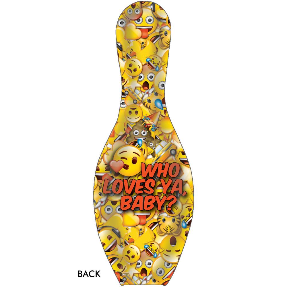 Emoji Bowling Pin Who Loves Ya