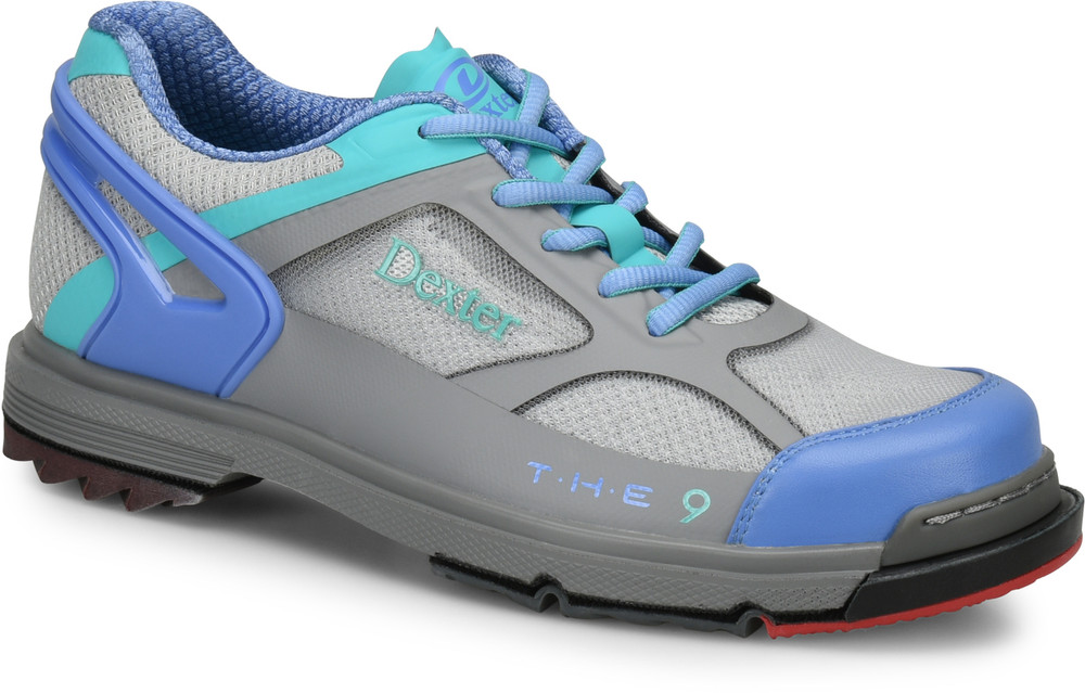 Dexter THE 9 HT Womens Bowling Shoes Grey Peri Aqua