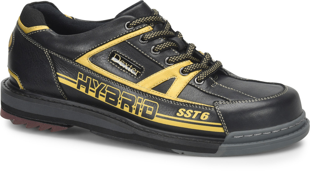 Dexter SST 6 Hybrid Mens Bowling Shoes Right Hand Black Gold